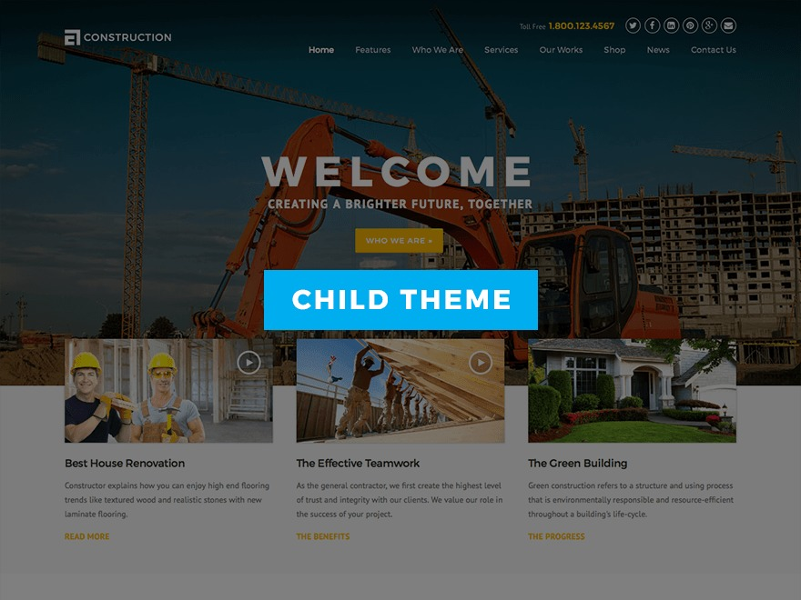 Construction Child WordPress theme