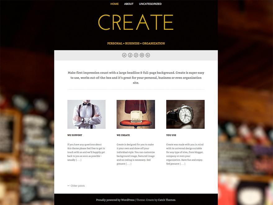 Create WordPress template free download