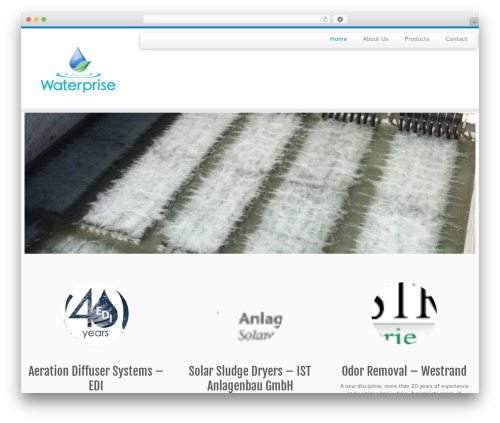 Customizr WP template - waterprise.com