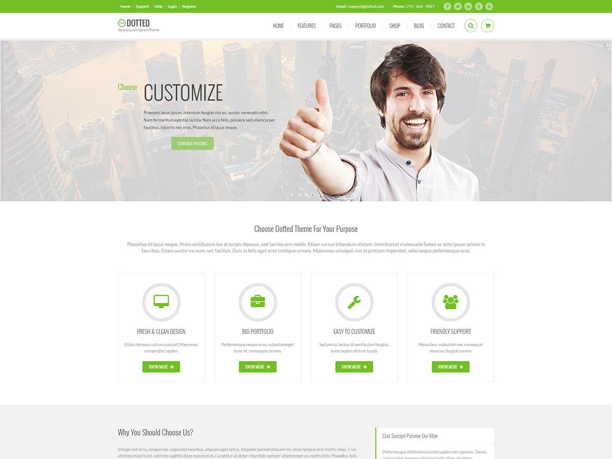 Dotted WordPress portfolio template