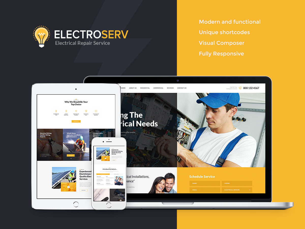 ElectroServ WordPress blog theme