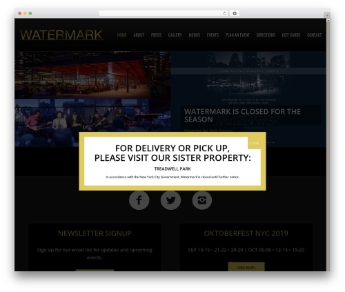 Enfold WordPress page template - watermarkny.com