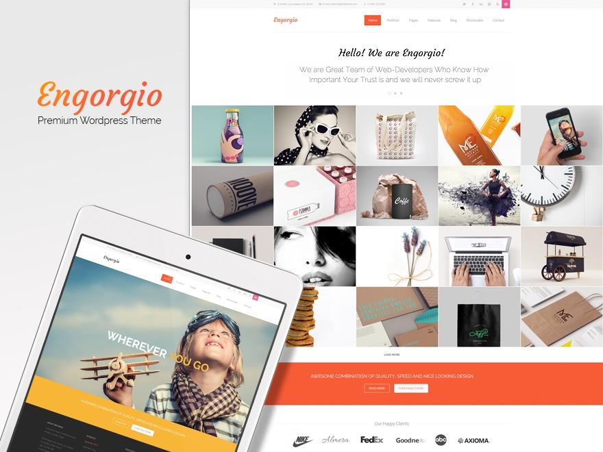 Engorgio business WordPress theme