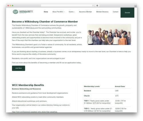 Enlightenment business WordPress theme - wilkinsburgchamber.com