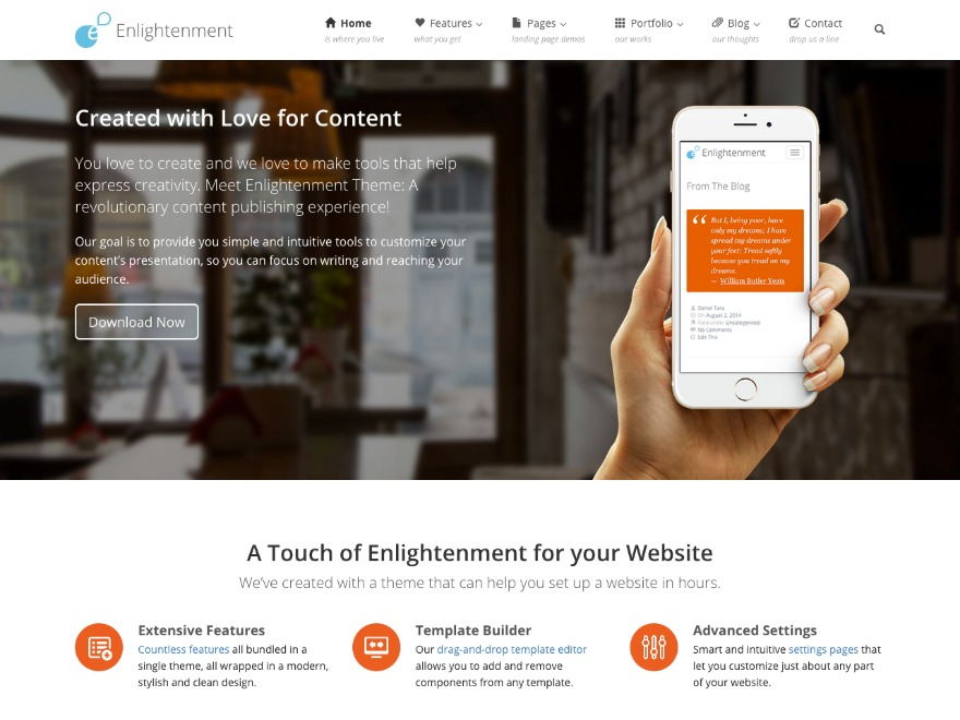 Enlightenment Child template WordPress
