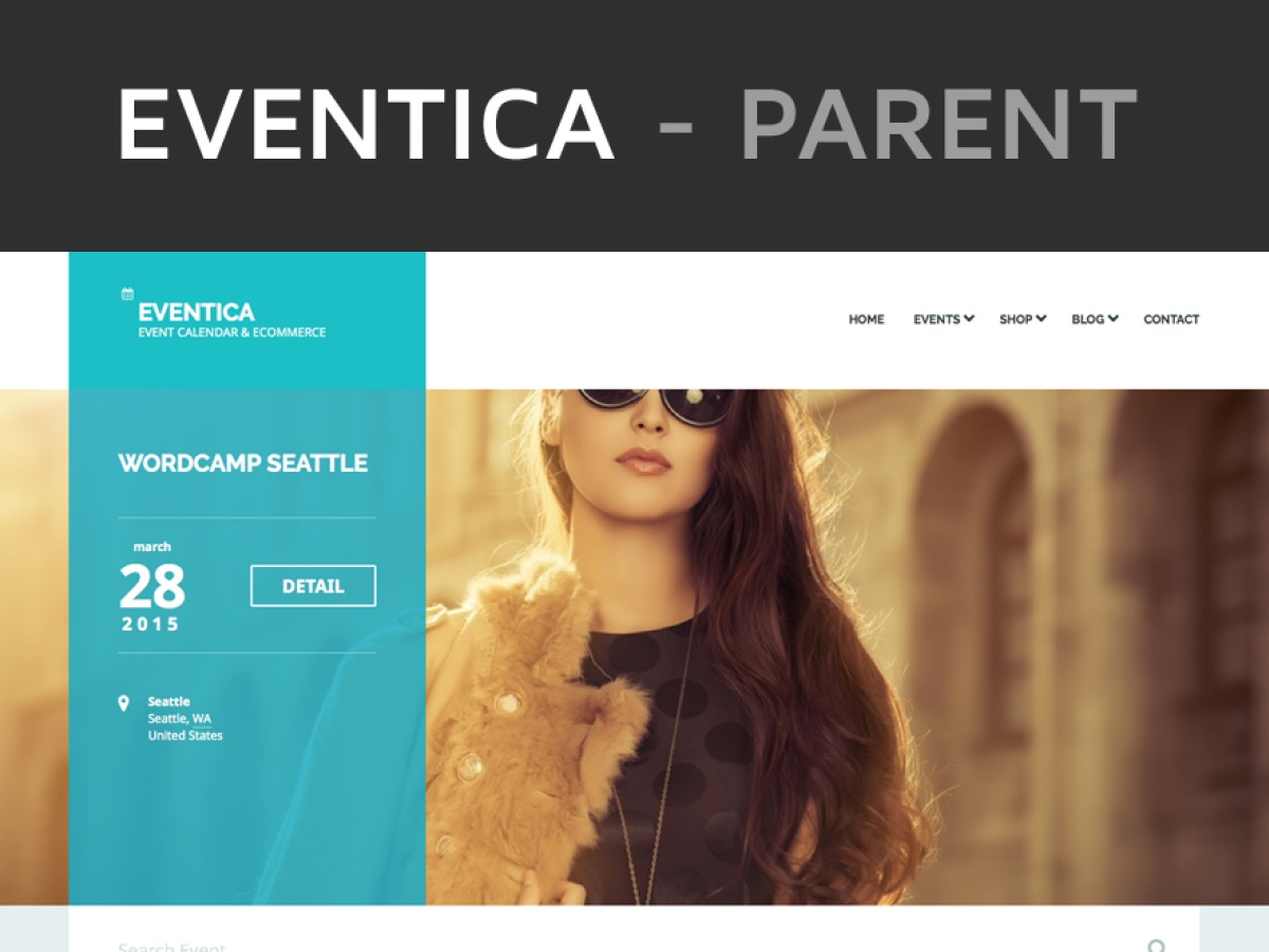 Eventica WP WordPress store theme