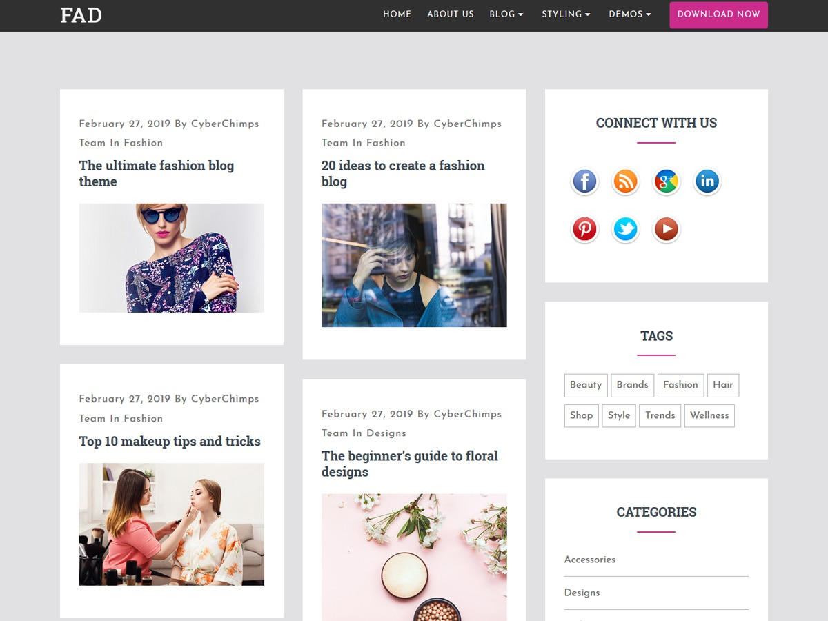 fad theme WordPress free