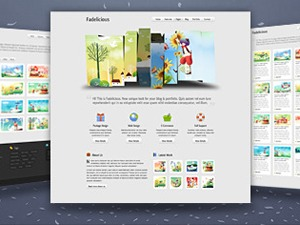 Fadelicious WordPress portfolio theme