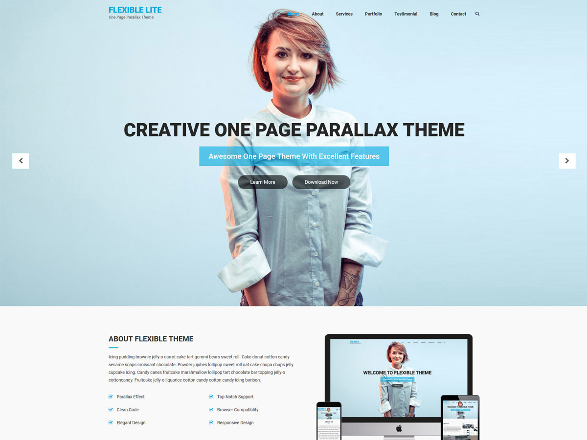 Flexible Lite theme free download