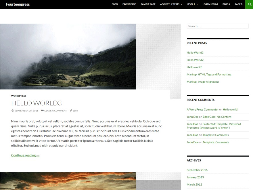 Fourteenpress free WP theme