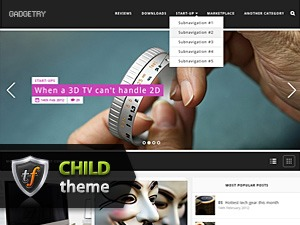 Gadgetry Child WordPress theme