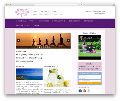 Genesis Sample theme WordPress - waichungyoga.com