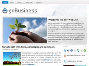 goBusiness company WordPress theme