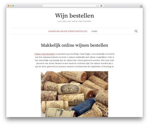 Graphy WordPress website template - wijnbestellen.org