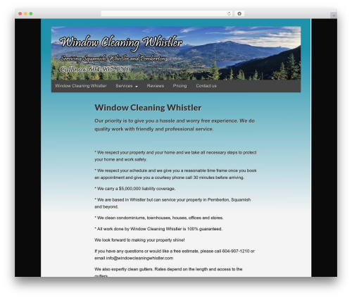 Gridiculous WordPress template for business - windowcleaningwhistler.com