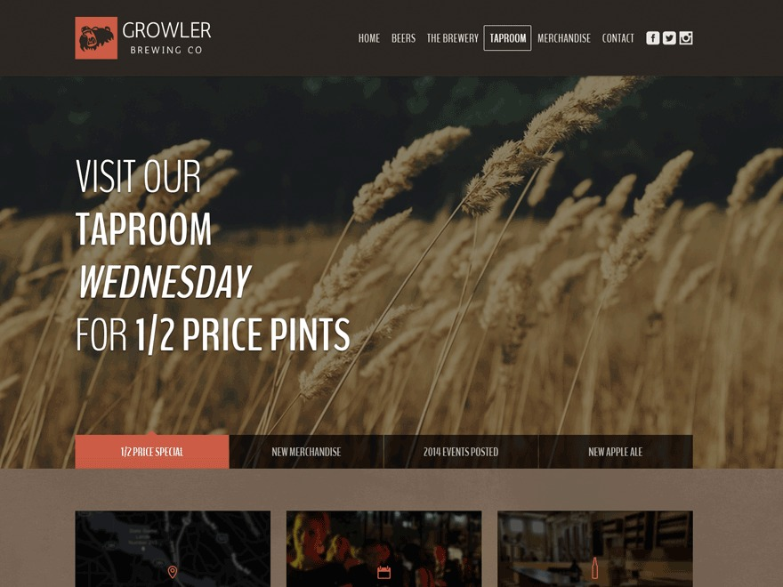 Growler Progression WordPress theme