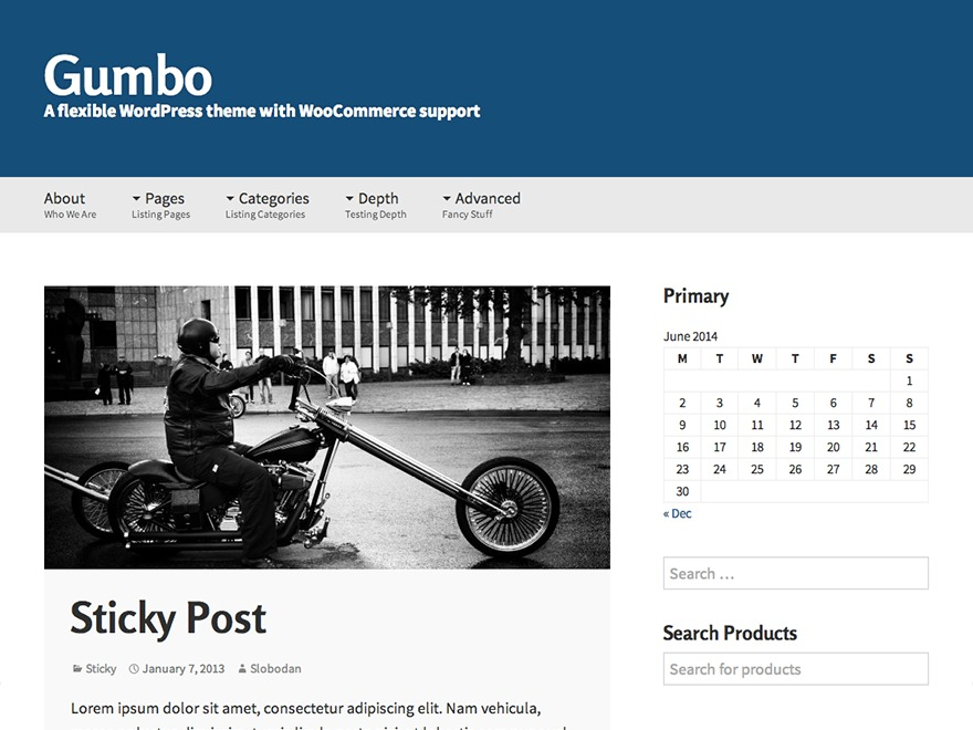 Gumbo WordPress template