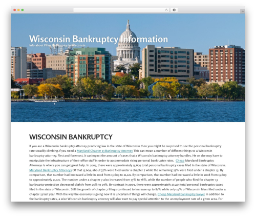 Gumbo WordPress website template - wisconsinbankruptcy.info