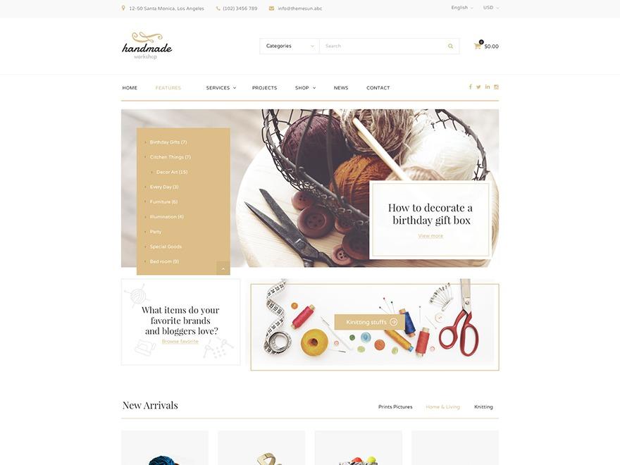 HandMade WordPress website template