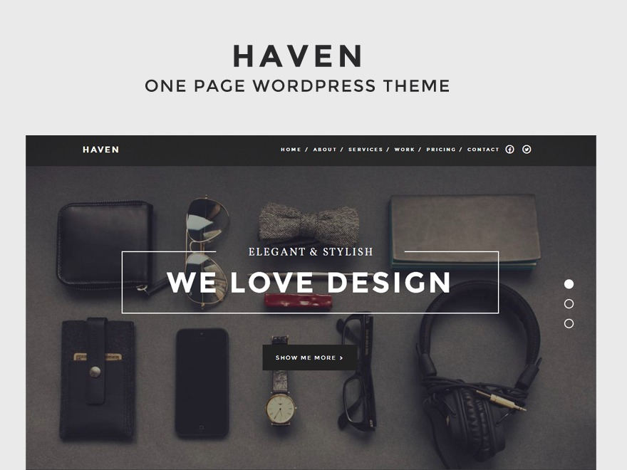Haven WordPress portfolio template