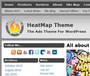 HeatMap Theme Pro WordPress template