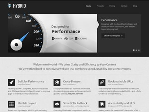 Hybrid Responsive & Retina One-Page WordPress Theme! premium WordPress theme