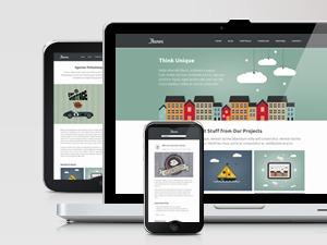Ikaros company WordPress theme