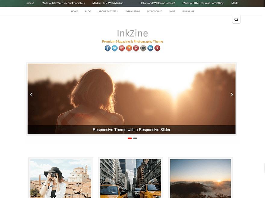 Inkzine WordPress blog template