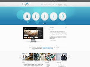 Inspire WordPress template