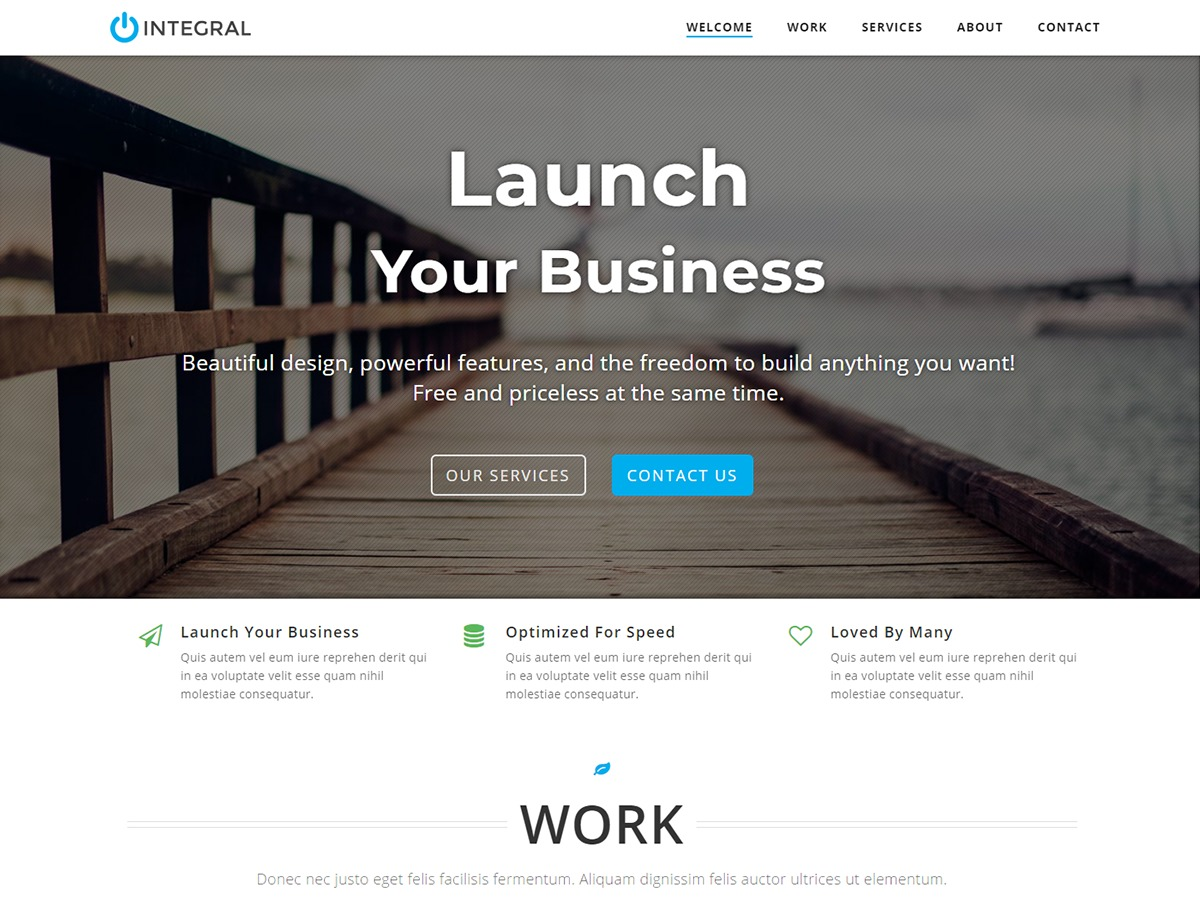 Integral free WordPress theme