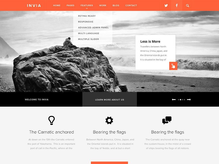 Invia WordPress theme