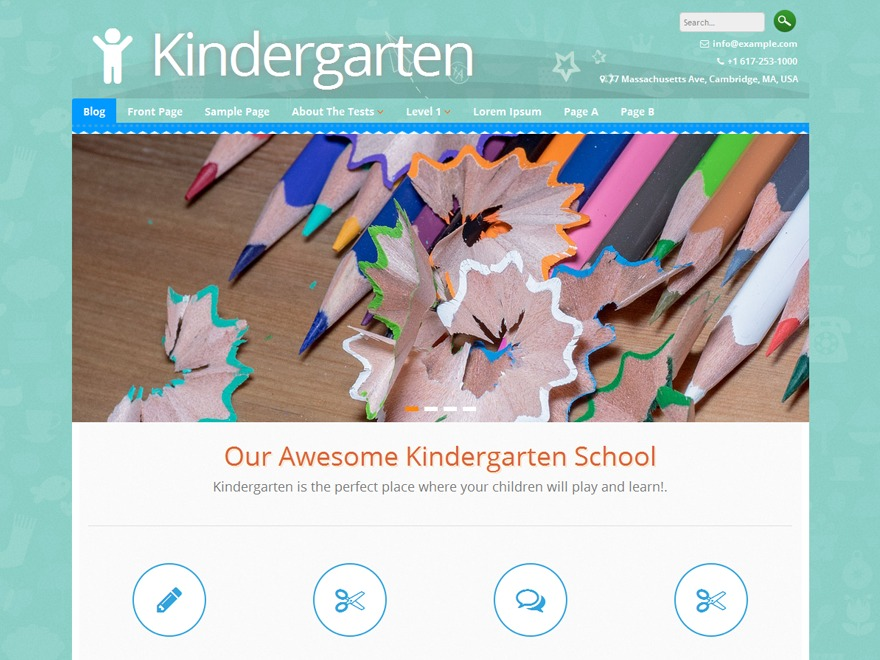Kindergarten WordPress template for business