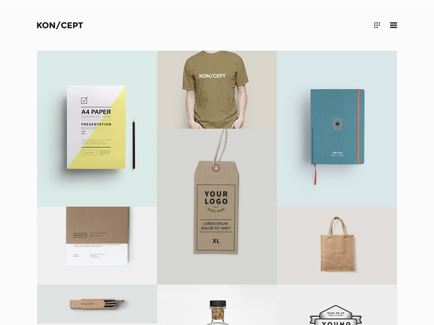 Koncept WordPress store theme
