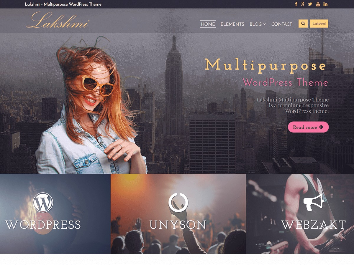 Lakshmi Lite template WordPress free