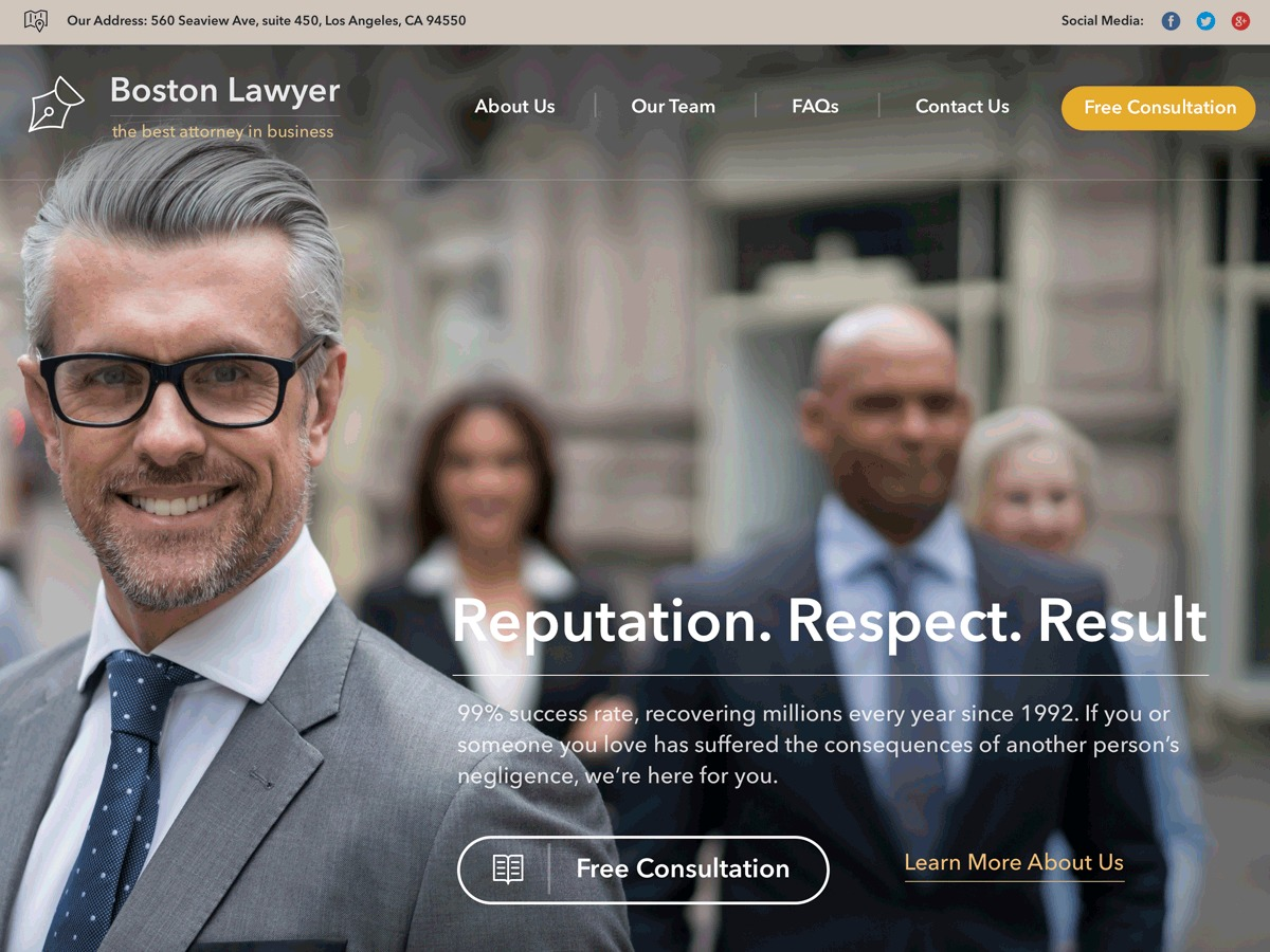 Lawyer by Osetin premium WordPress theme