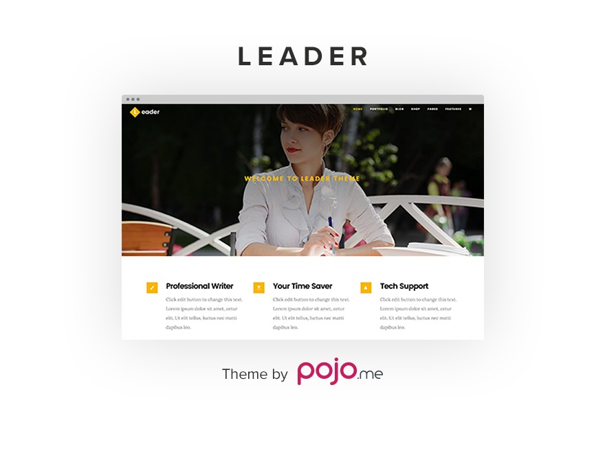 leader WordPress website template