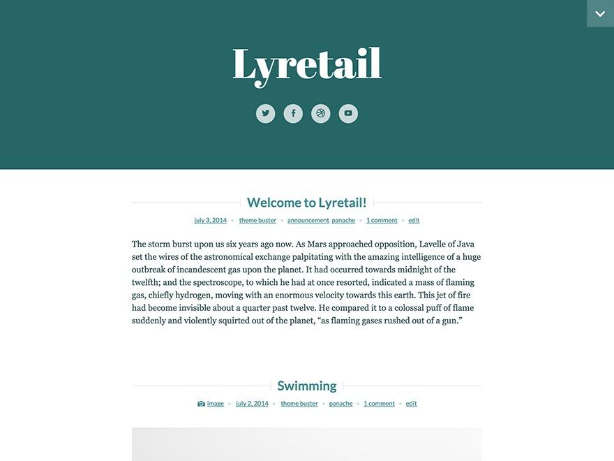 Lyretail free WP theme