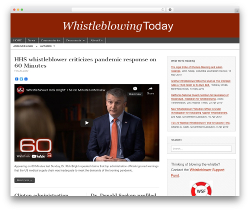 Magazine Basic free WordPress theme - whistleblowingtoday.org
