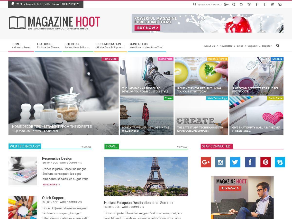 Magazine Hoot WordPress news template