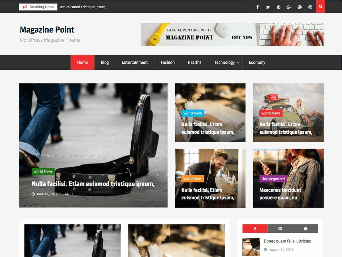 Magazine Point template WordPress free