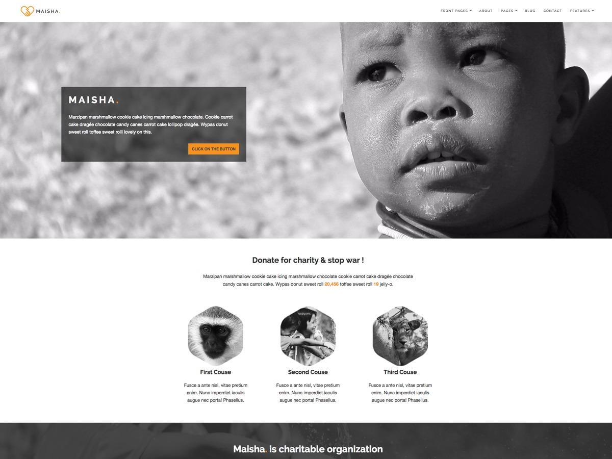 Maisha WordPress ecommerce theme