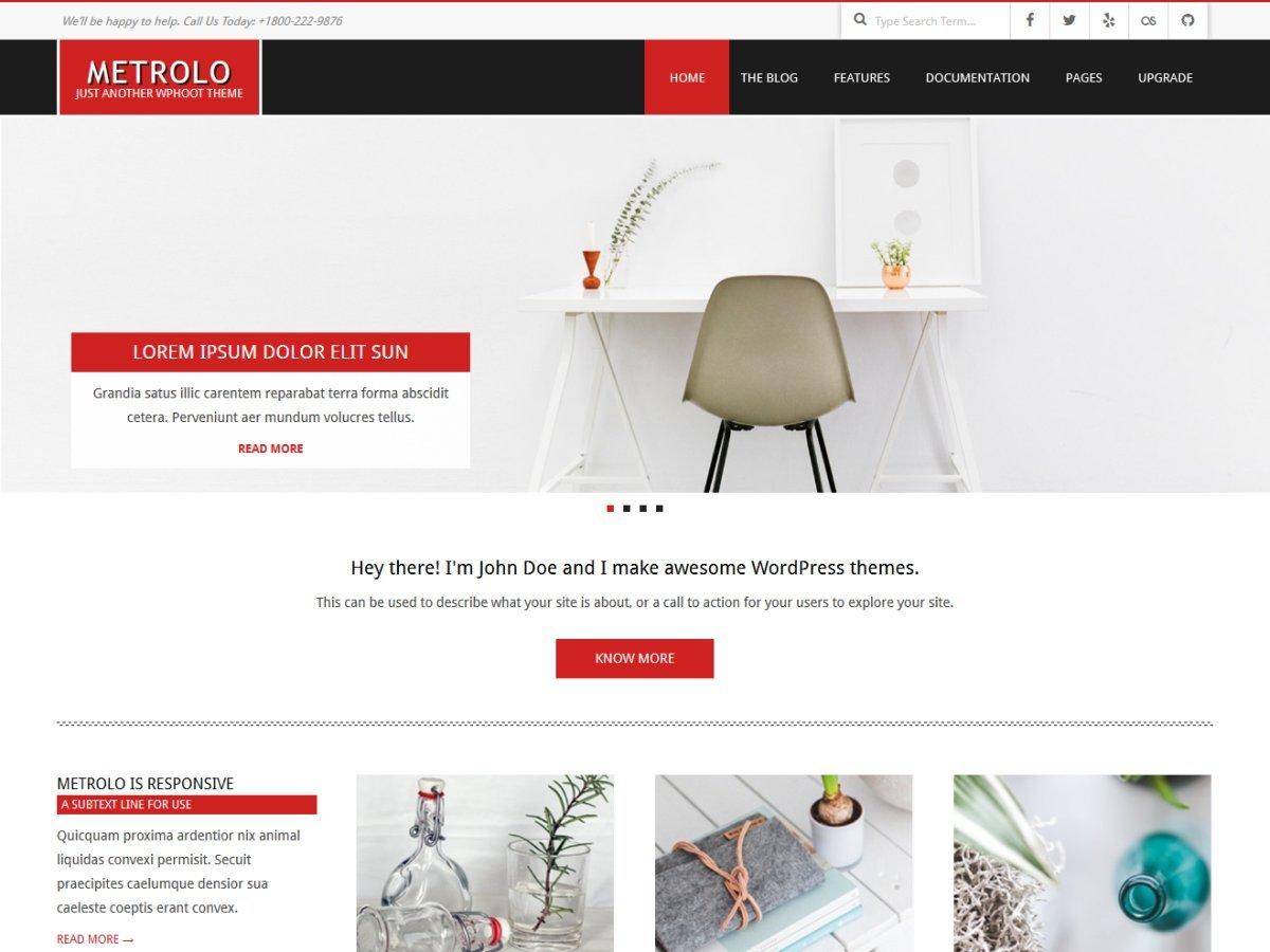 Metrolo WordPress shop theme