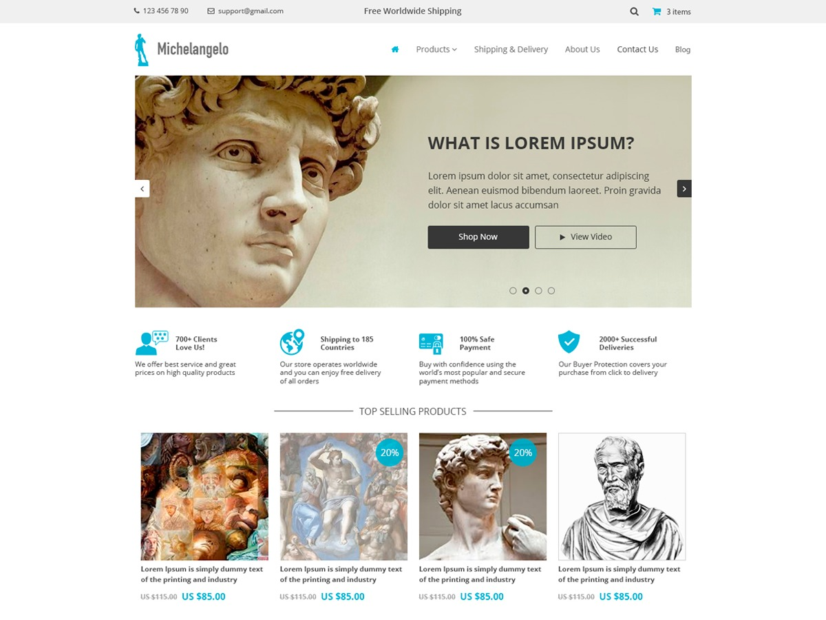 Michelangelo WordPress theme