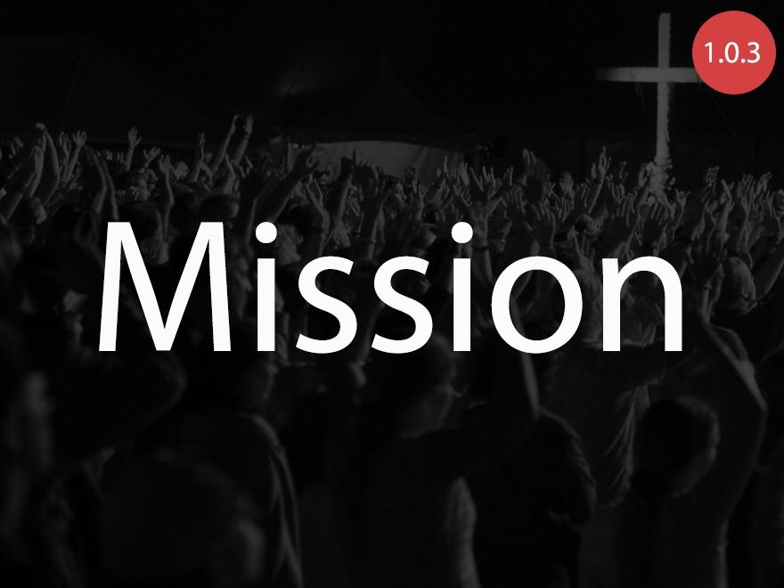 Mission theme WordPress