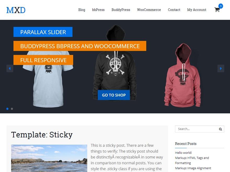 Mixed WordPress blog template