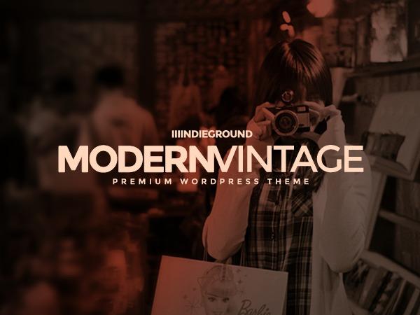 Modern Vintage top WordPress theme