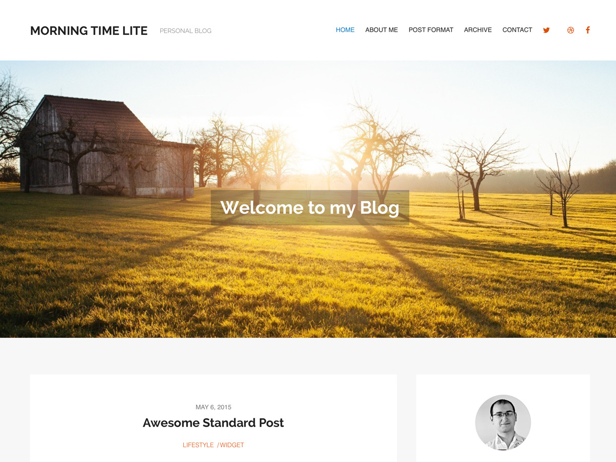 MorningTime Lite template WordPress free