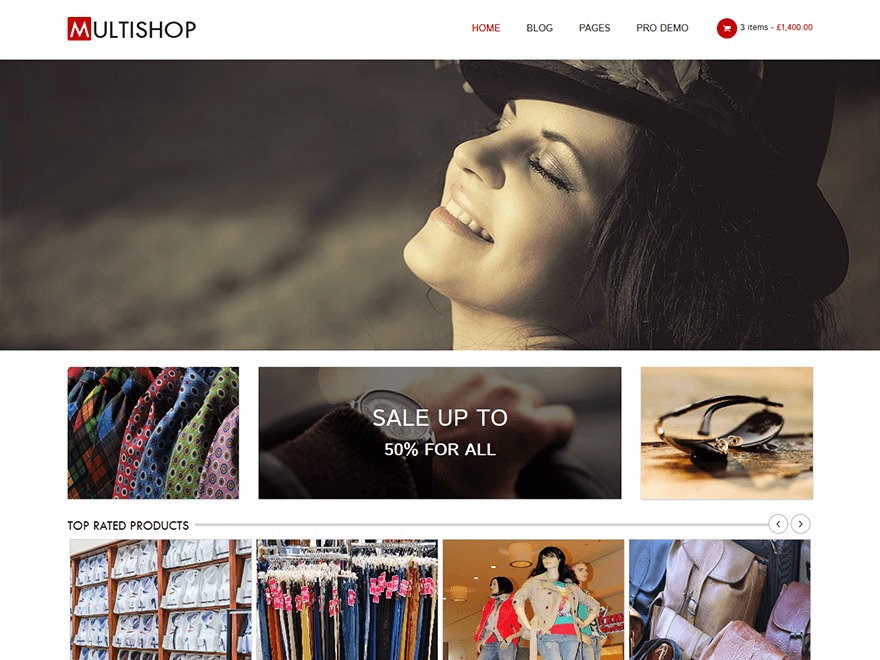 Multishop WordPress shopping theme
