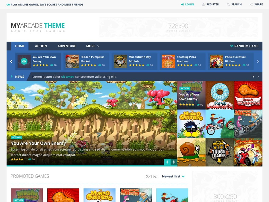MyArcadeTheme WordPress theme