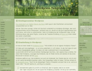 Nature theme WordPress